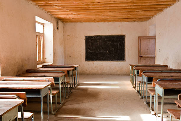 Afghan Class Room Sparsely decorated classroom in 3rd world country Afghanistan stock pictures, royalty-free photos & images