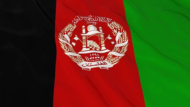 Bandeira do Afeganistão HD fundo-ilustração 3D da bandeira do Afeganistão - foto de acervo
