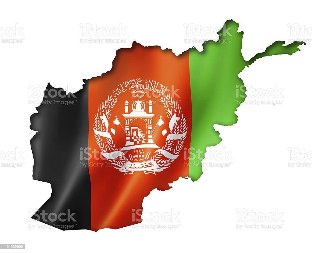 Afghan flag map stock photo
