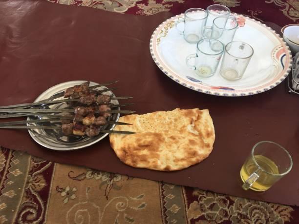Afghan Shish Kebab stock photo