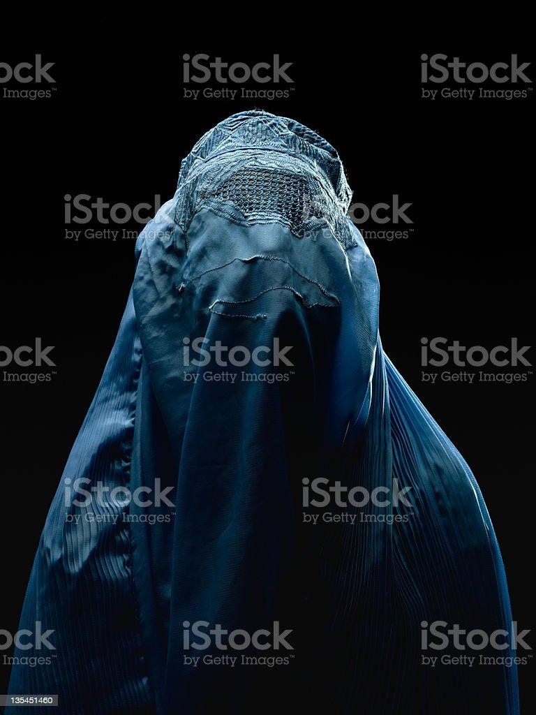 Afghan woman wearing her burkha stock photo