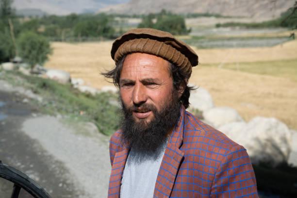 Afghani man in Wakhan Corridor, Afghanistan. stock photo
