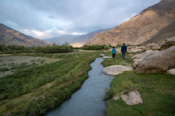 Afghani people in Wakhan Corridor, Afghanistan stock photo