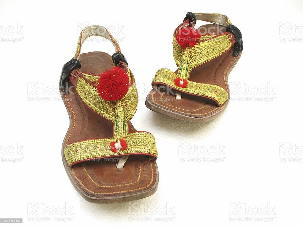 Afghani Sandals royalty-free stock photo