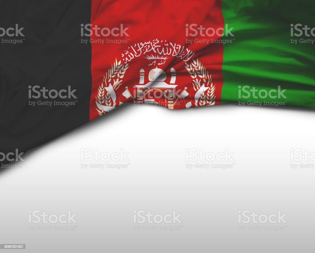 Afghani waving flag stock photo