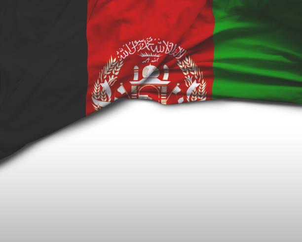Bandeira de ondulação afegão - foto de acervo