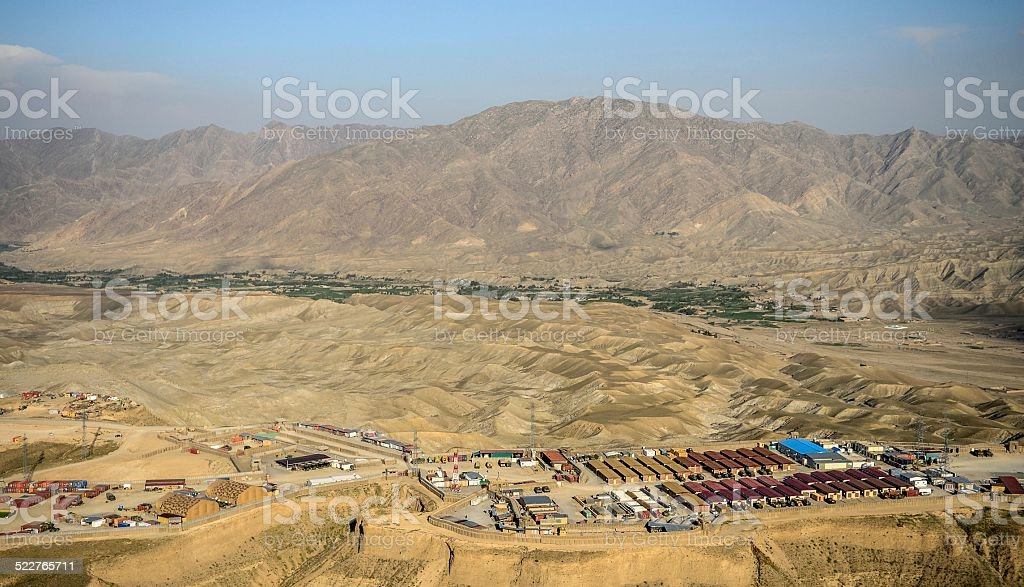 base Afghanistan stock photo
