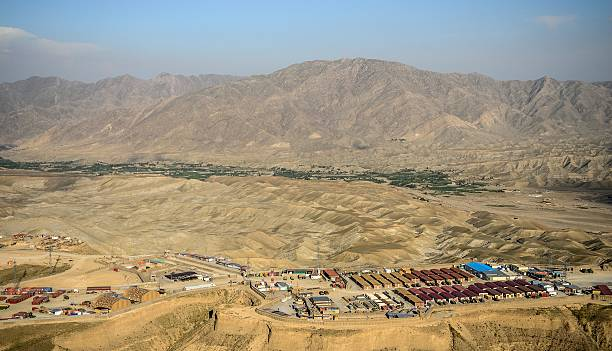 base Afghanistan base avancé en Afghanistan military base stock pictures, royalty-free photos & images