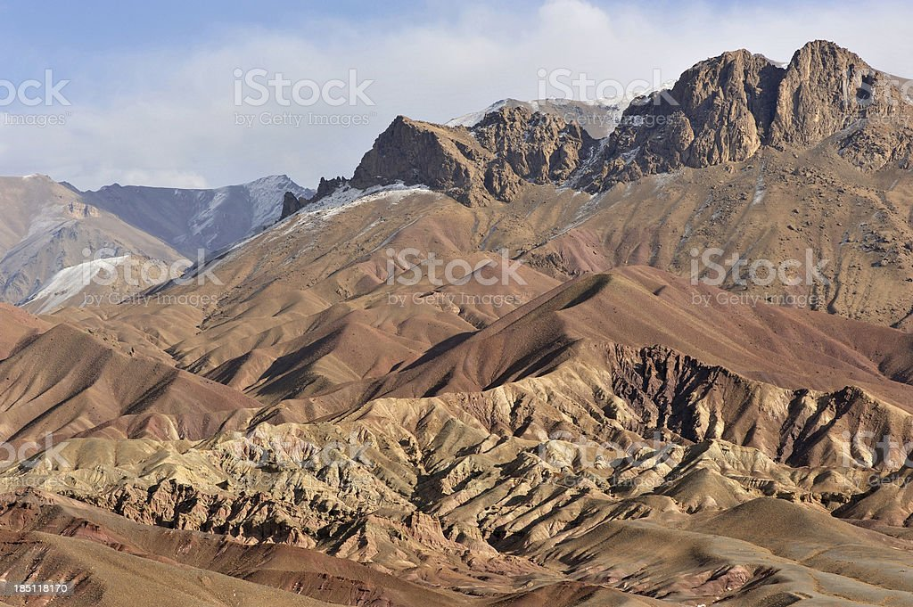 Afghanistan colourful mountains stock photo