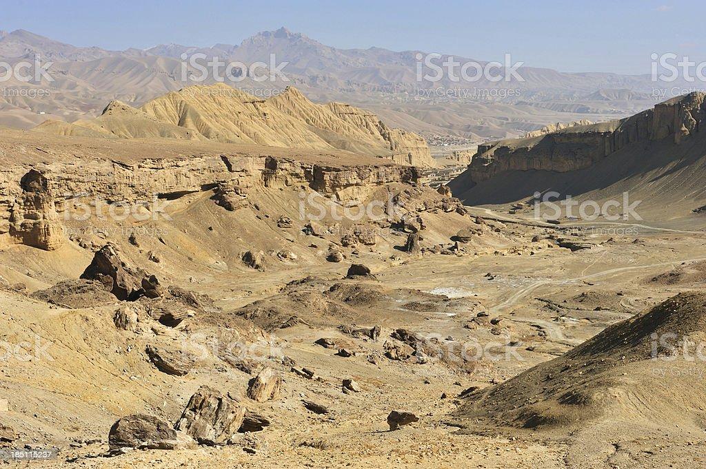 Afghanistan desert landscape stock photo