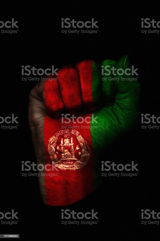 Afghanistan Fist stock photo