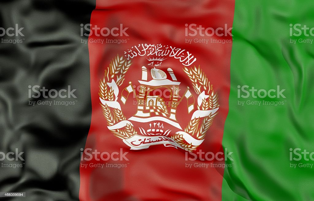 Afghanistan flag 3d illustration royalty-free stock photo