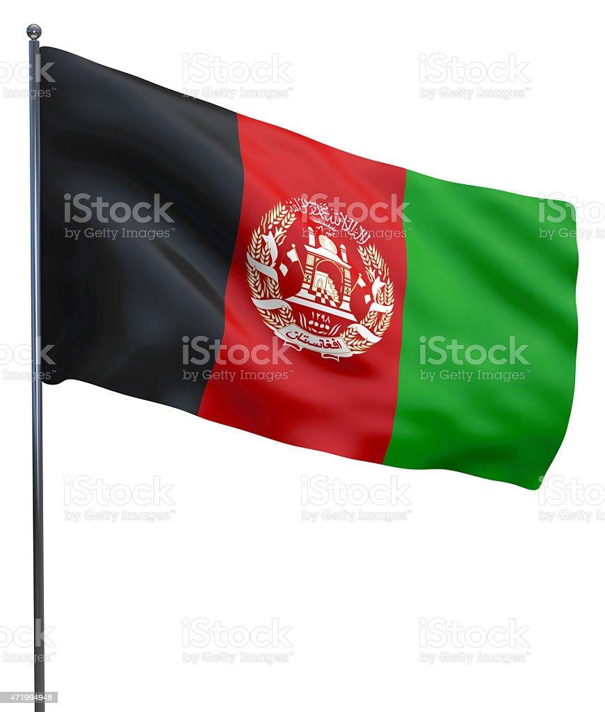 Afghanistan Flag Image stock photo