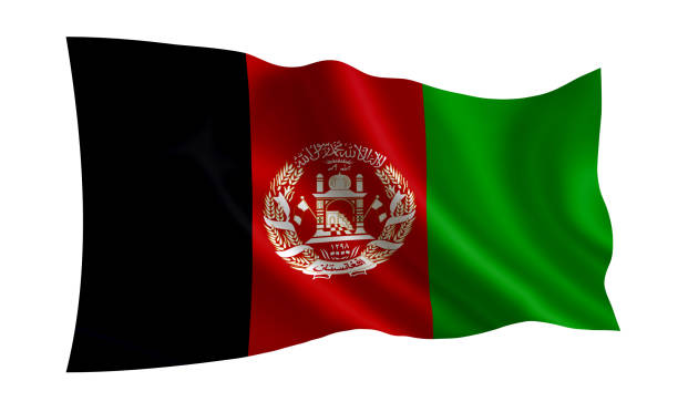 Bandeira do Afeganistão. (Uma série de bandeiras do mundo). - foto de acervo