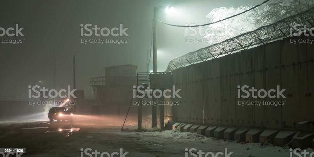 Afghanistan Military Patrol in Winter stock photo