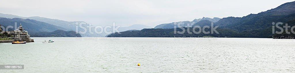 Afon Mawddach near Barmouth Panorama royalty-free stock photo