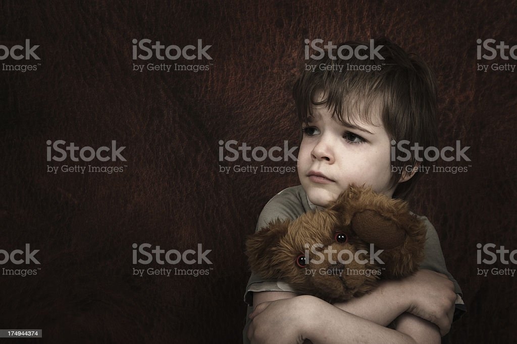 Afraid Child stock photo