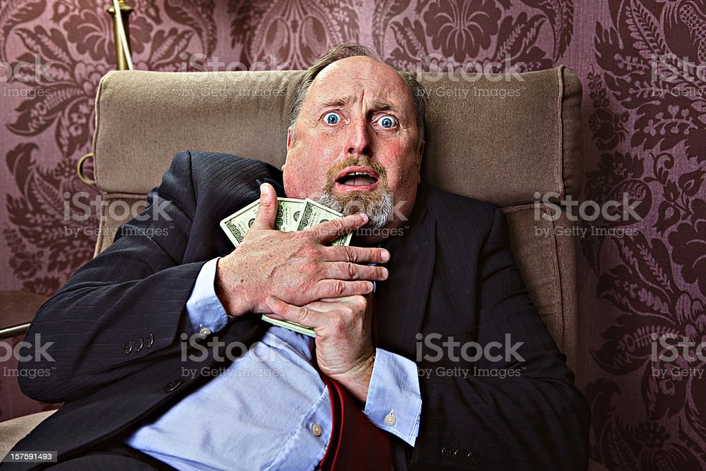 Afraid to loose money royalty-free stock photo
