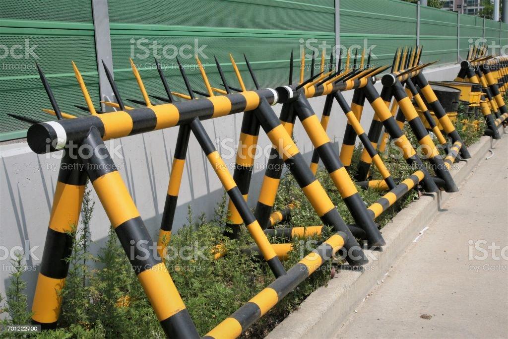 A-Frame portable barricade stock photo