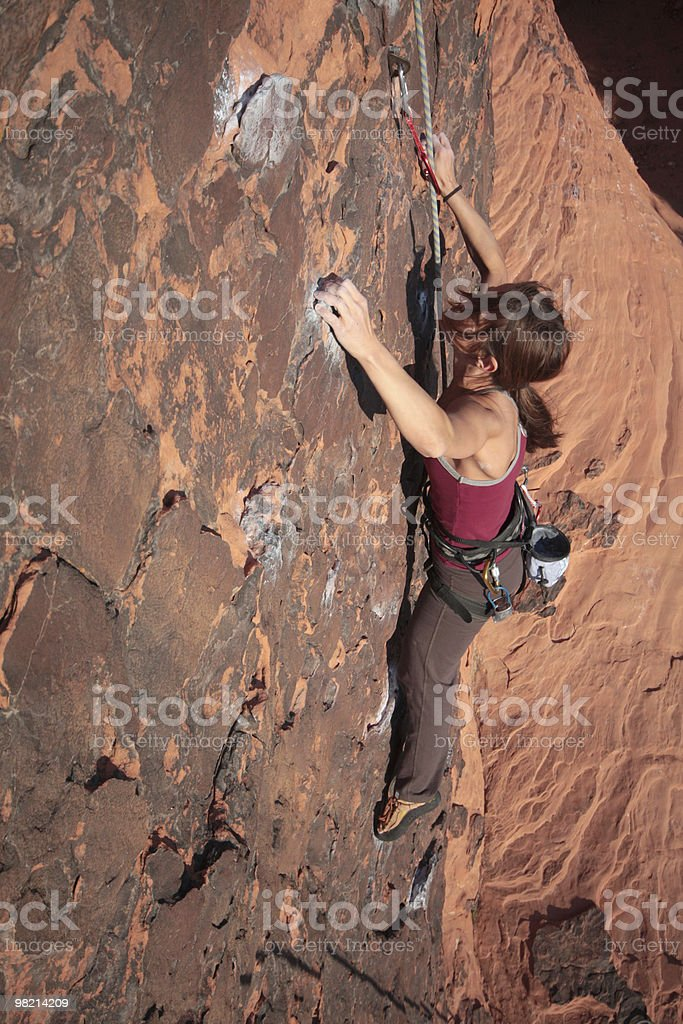 Afriad of Heights royalty-free stock photo