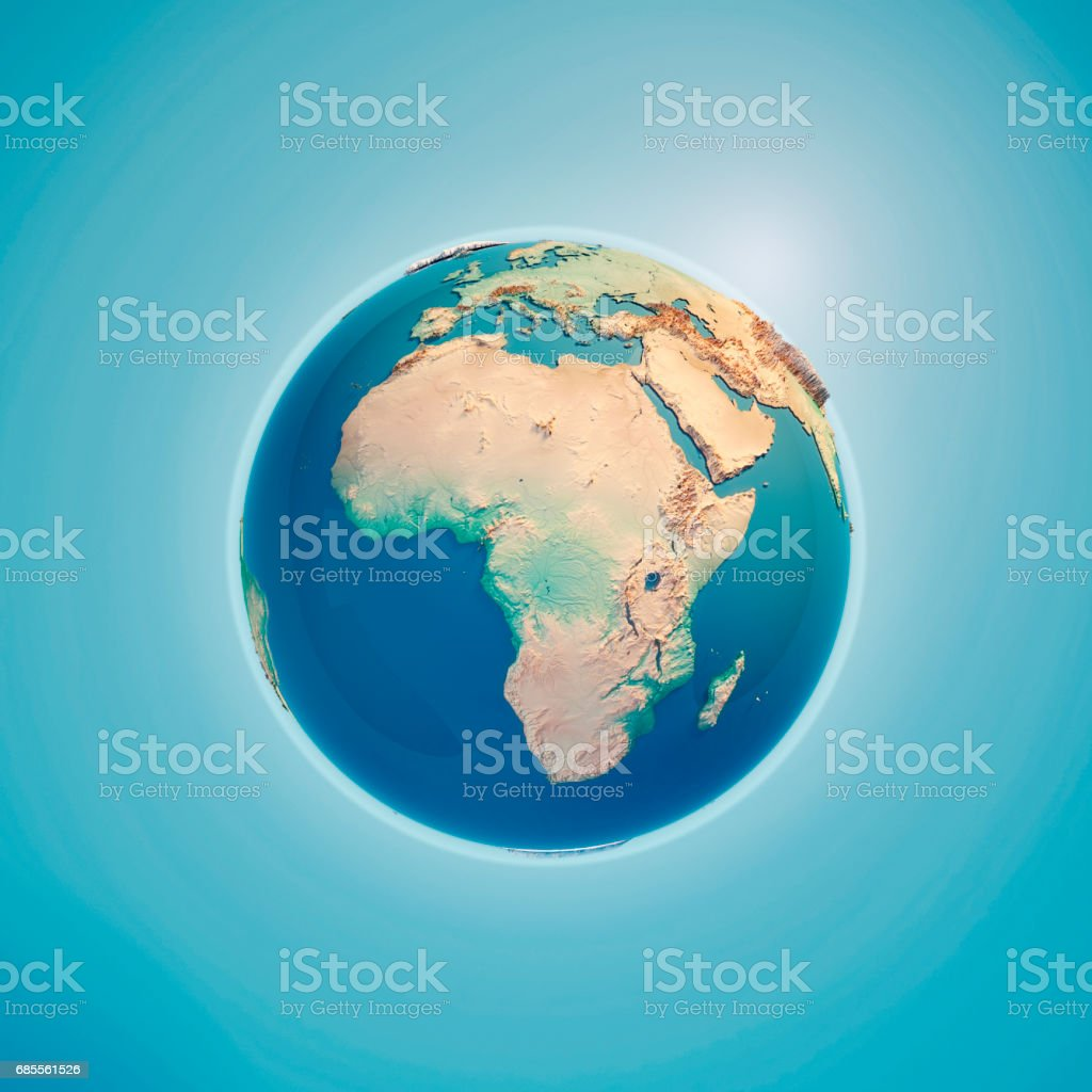 Africa 3D Render Planet Earth stock photo