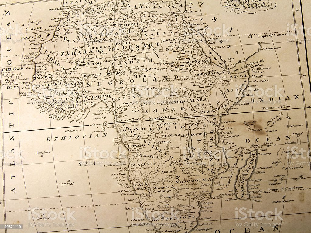 Africa before 1840 royalty-free stock photo