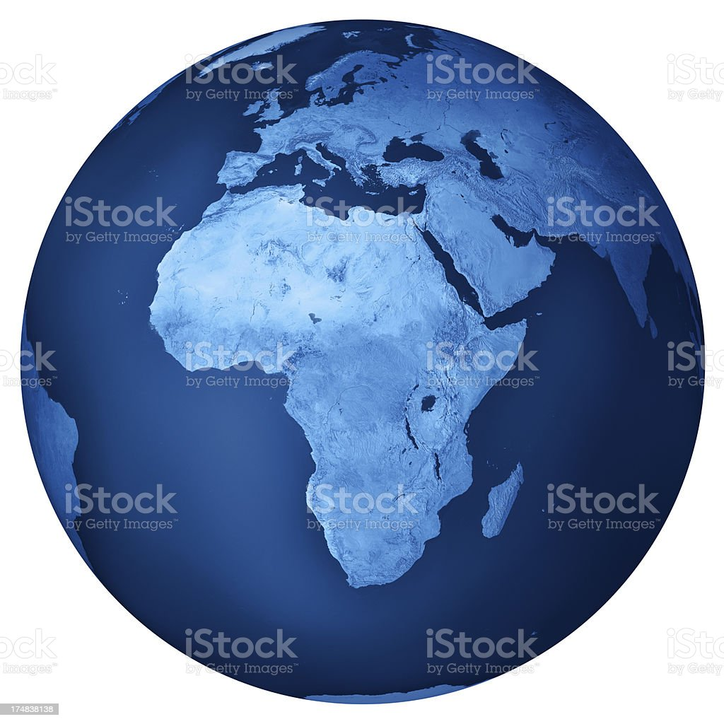 Africa Blue Planet Earth Isolated royalty-free stock photo