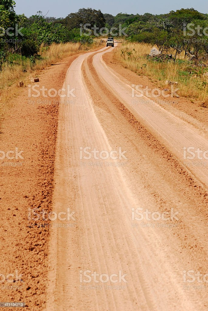 Africa Dirt Road royalty-free stock photo