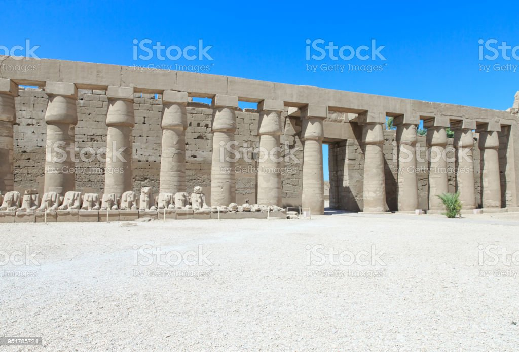 Africa, Egypt, Luxor, Karnak temple stock photo