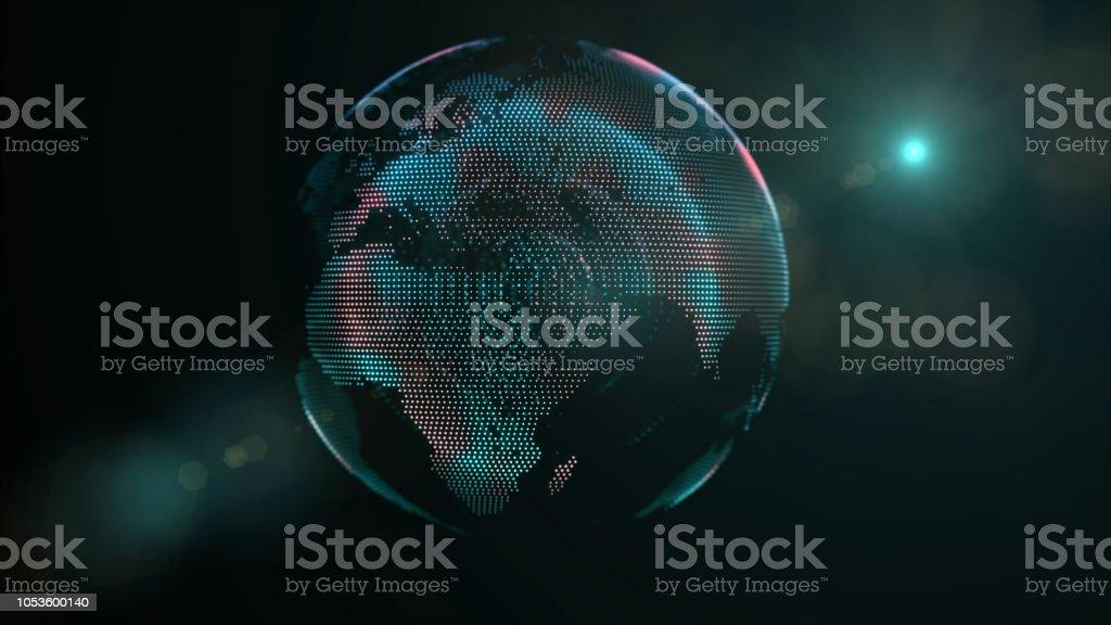 África, Europa e Ásia continente - foto de acervo