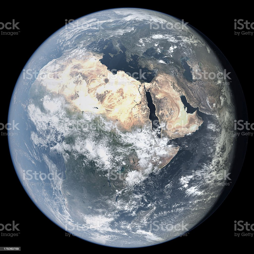 Africa from Space royalty-free stock photo