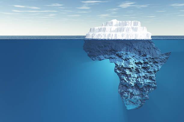 africa iceberg underwater - iceberg stock photos and pictures
