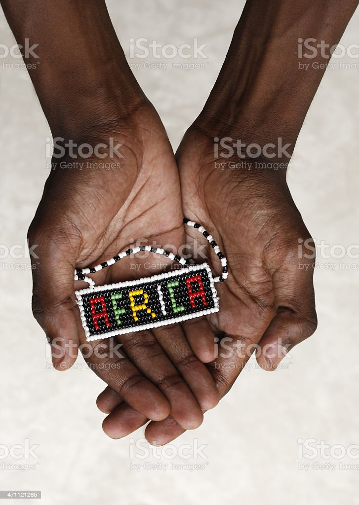 Africa in black hands royalty-free stock photo