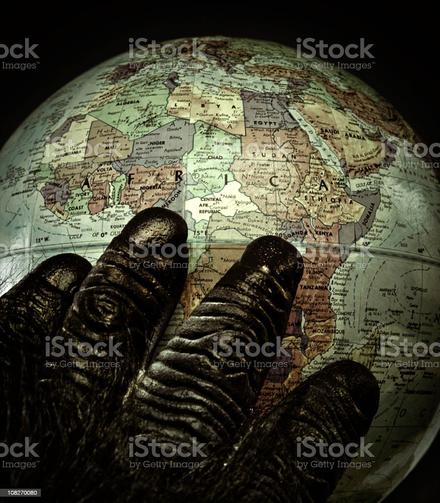 africa in my heart stock photo