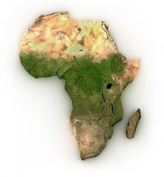Africa - isolated on white stock photo