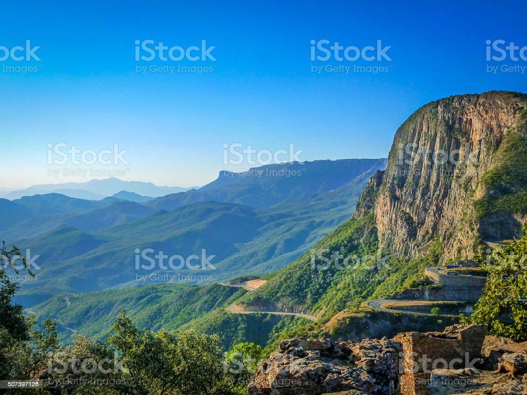 Africa landscape, Lubango Angola, Serra da Leba stock photo