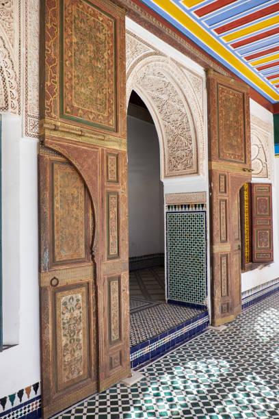 África, Marruecos, marrakech Palacio el bahia - foto de stock