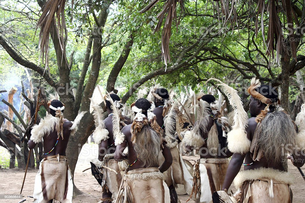 Africa - native tribal dance stock photo