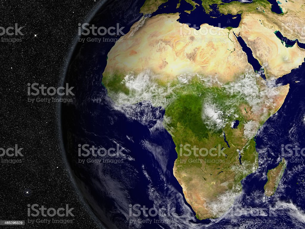 Afrika auf planet Earth – Foto