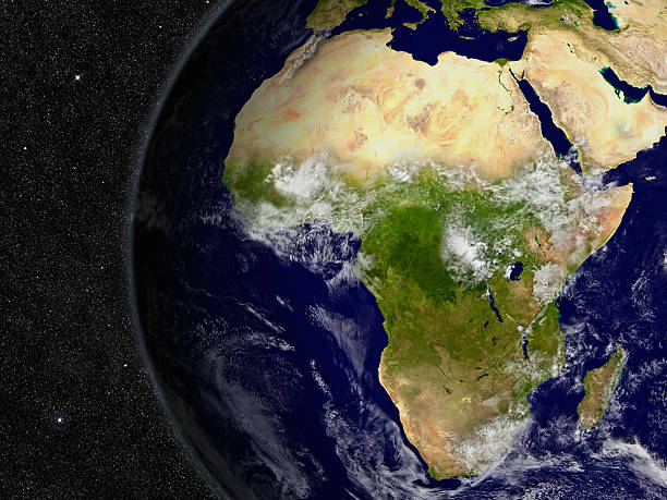 Afrika auf planet Earth – Foto