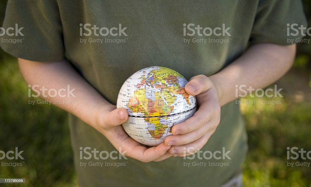 World Map On Hands.Africa Planet World Map Child Hands Holding Globe Stock Photo More