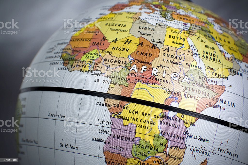 Africa, politcal stock photo
