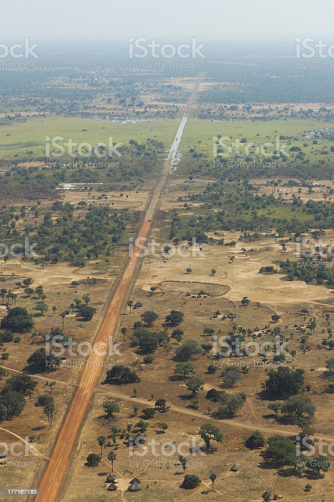 Africa Road royalty-free stock photo
