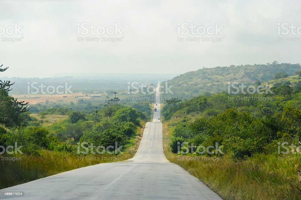 Africa Road stock photo