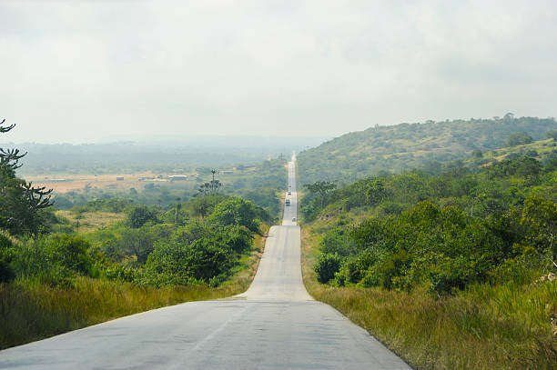 africa road - angola stock photos and pictures