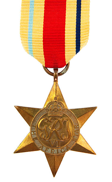 Africa Star Medal stock photo