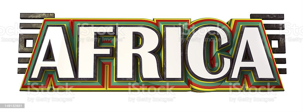 Africa title royalty-free stock photo