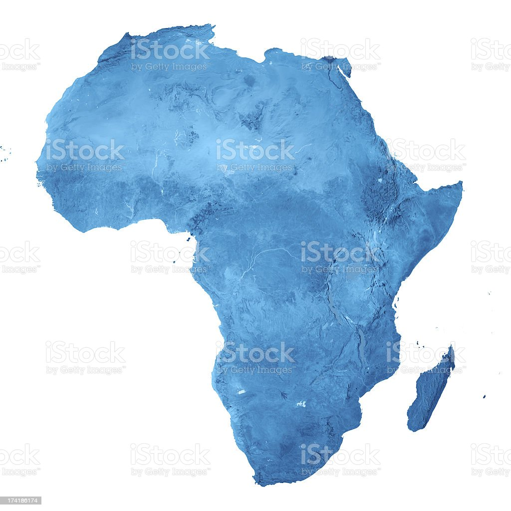 Africa Topographic Map Isolated stock photo