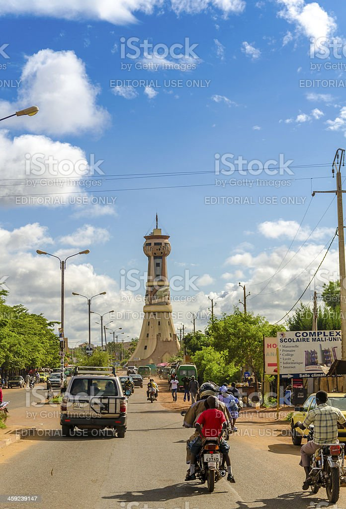 Africa Tower in Bamako, Mali stock photo