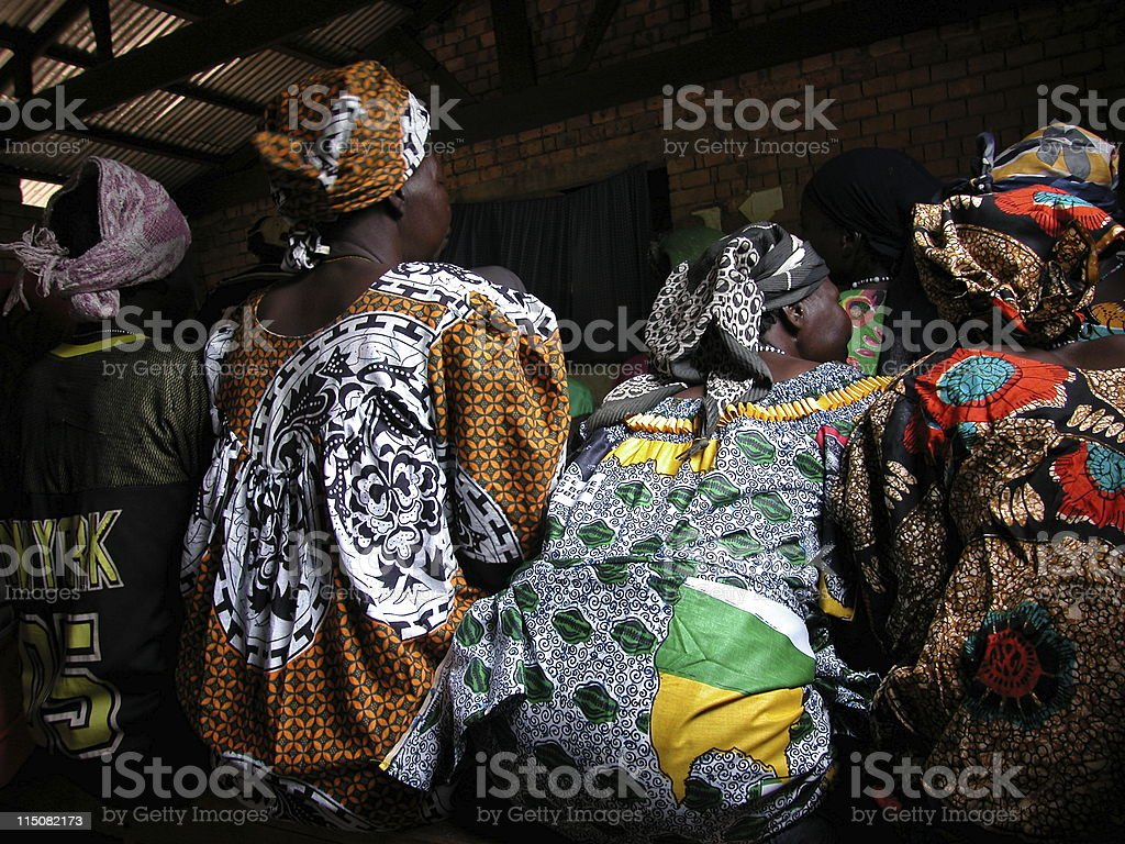 africa . women sitting stock photo